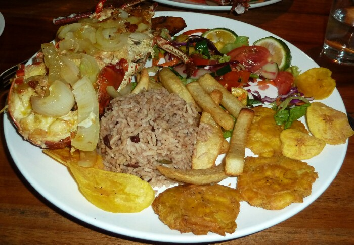 Caribbean wedding reception with lobster dinner, Costa Rica
