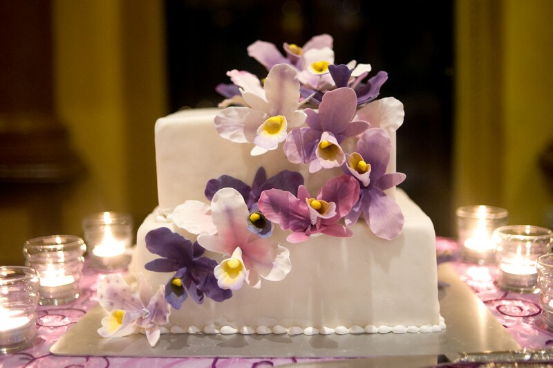 orchid-wedding-cake