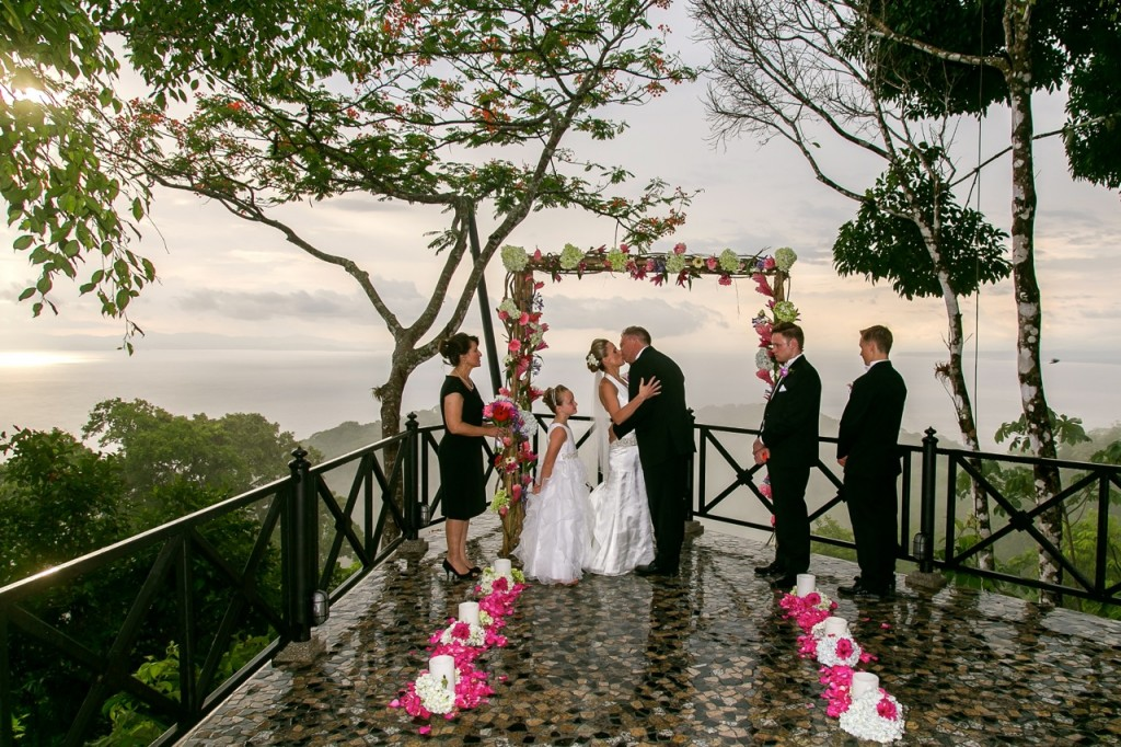 wedding at villa caletas in costa rica an intimate