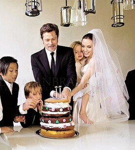 Angelina Jolie Brad Pitt Wedding Cake