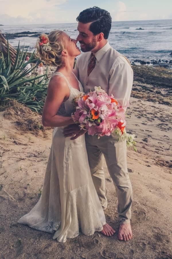 bridal couple playa langosta