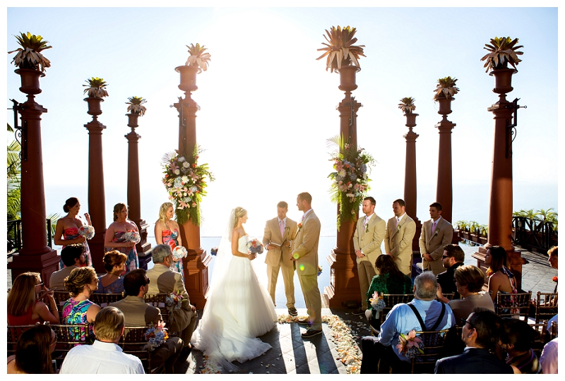 ceremony in front of zephyr palace pool