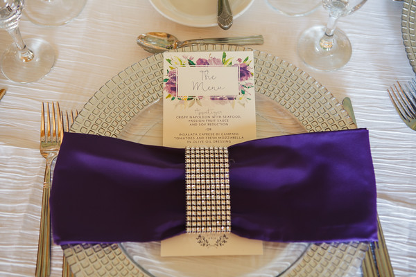 napkin ties with a bit of bling